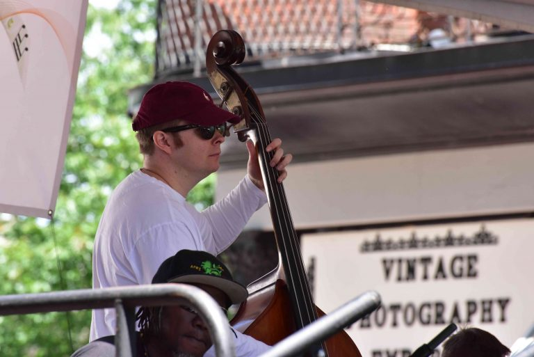 James on Upright Bass with KeruBo @ Jazz Fest